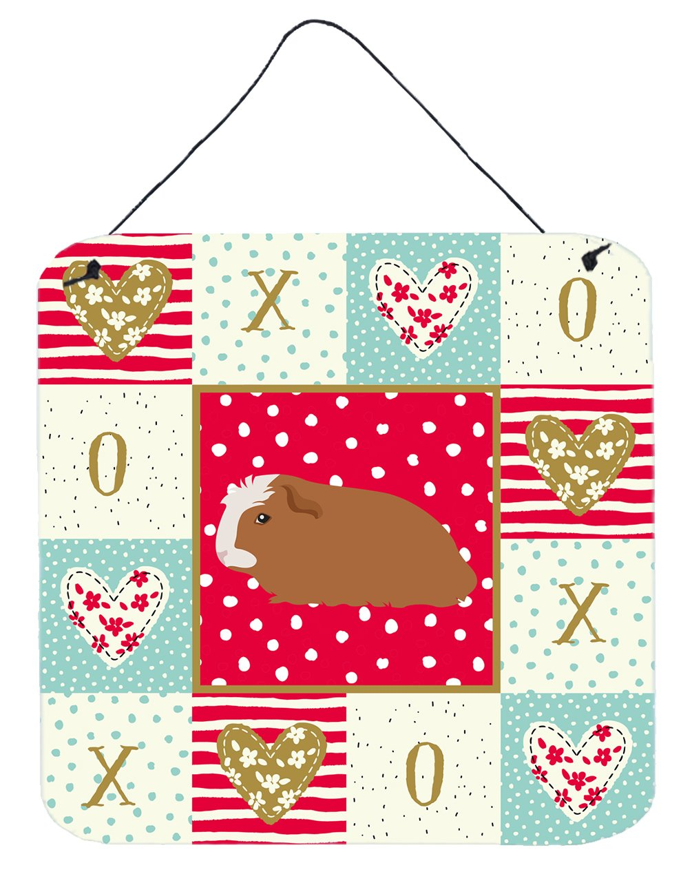Crested Guinea Pig Love Wall or Door Hanging Prints CK5428DS66 by Caroline's Treasures