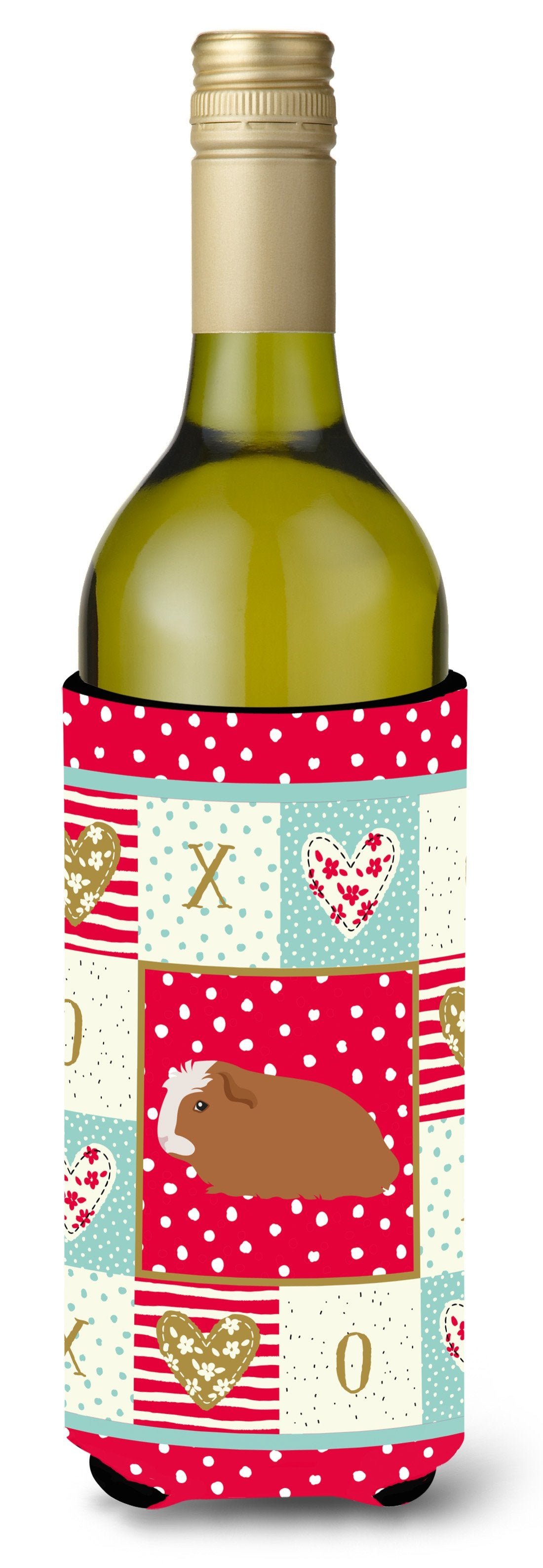 Crested Guinea Pig Love Wine Bottle Hugger CK5428LITERK by Caroline's Treasures