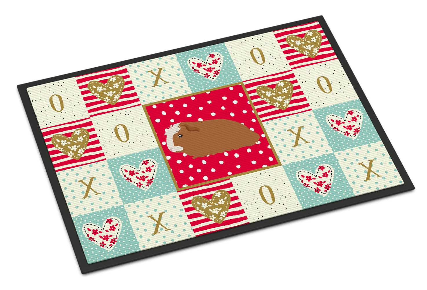 Crested Guinea Pig Love Indoor or Outdoor Mat 18x27 CK5428MAT by Caroline's Treasures