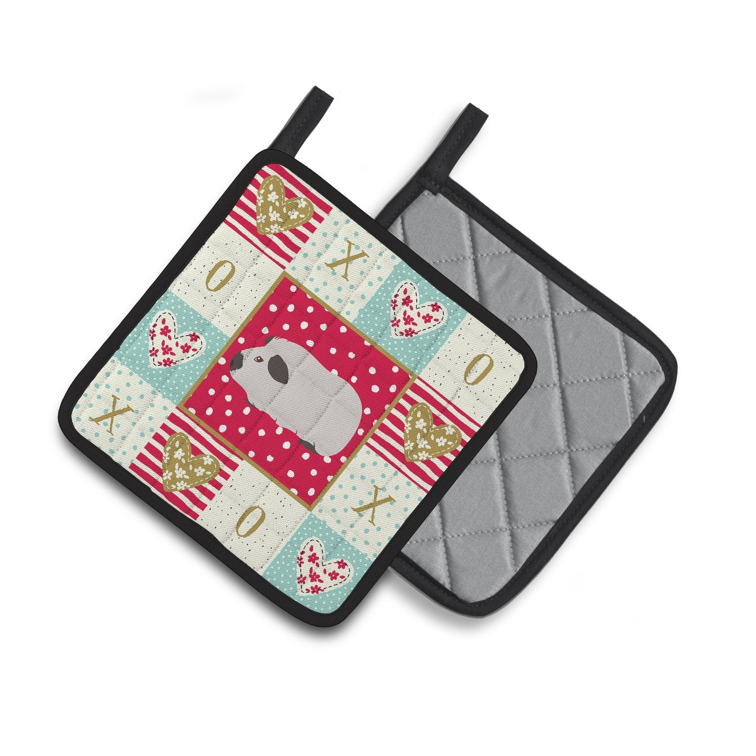 Buy this Himalayan Guinea Pig Love Pair of Pot Holders CK5429PTHD