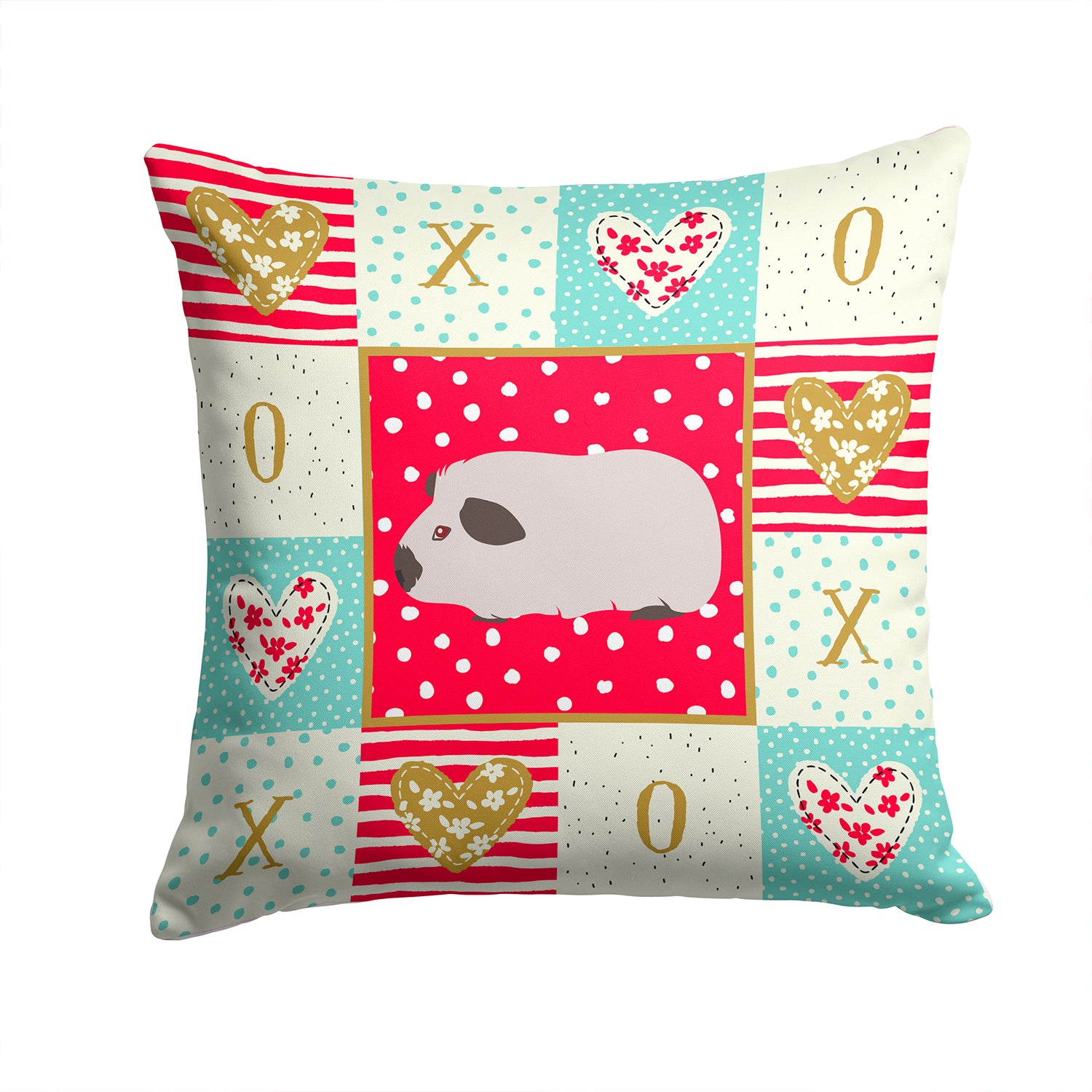 Buy this Himalayan Guinea Pig Love Fabric Decorative Pillow CK5429PW1414