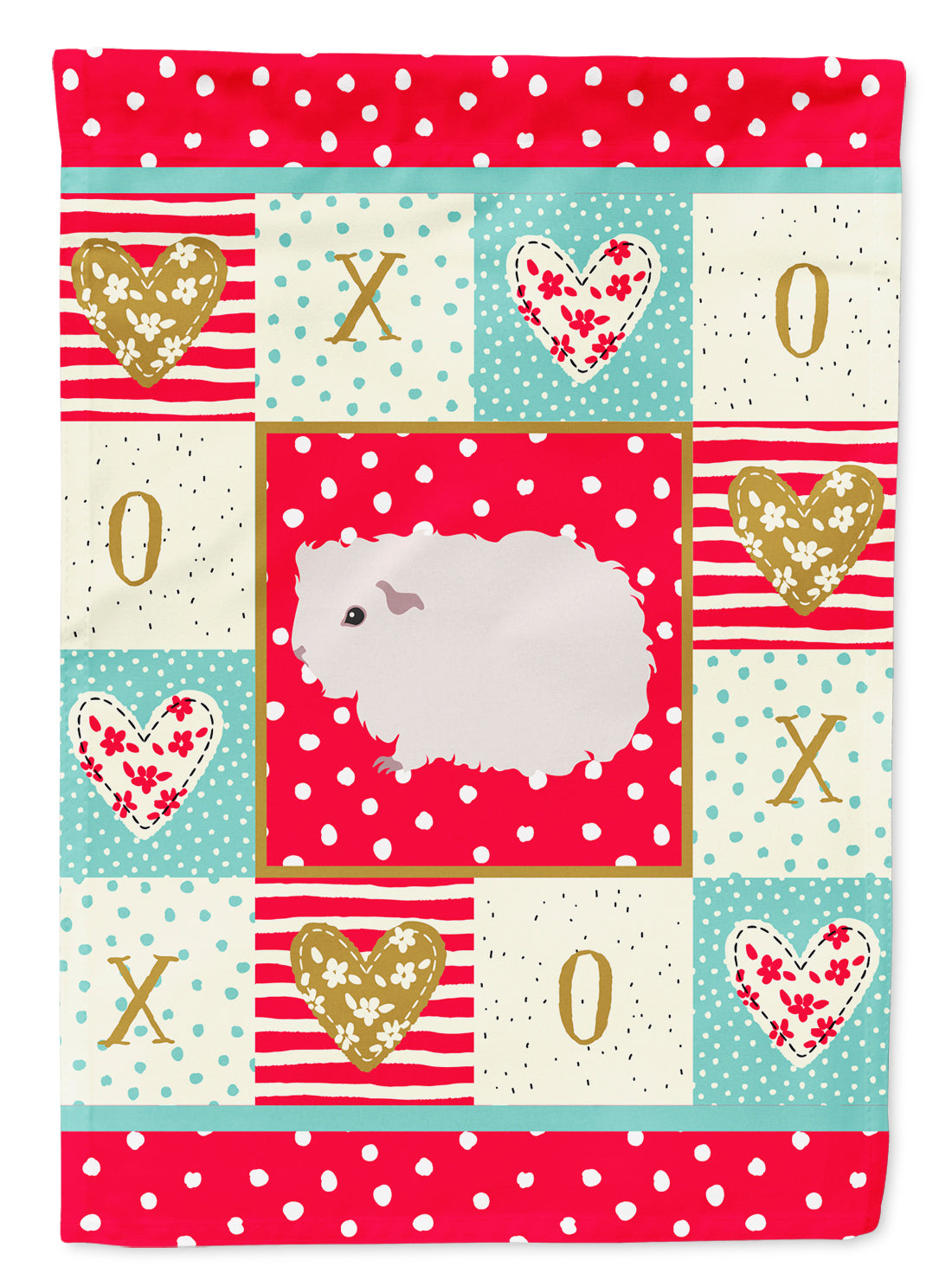 Merino Guinea Pig Love Flag Canvas House Size CK5430CHF by Caroline's Treasures