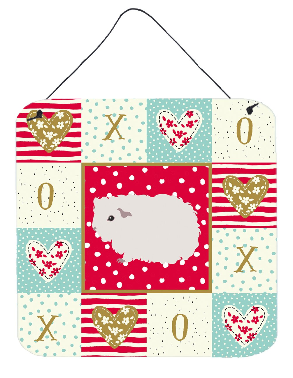Merino Guinea Pig Love Wall or Door Hanging Prints CK5430DS66 by Caroline's Treasures