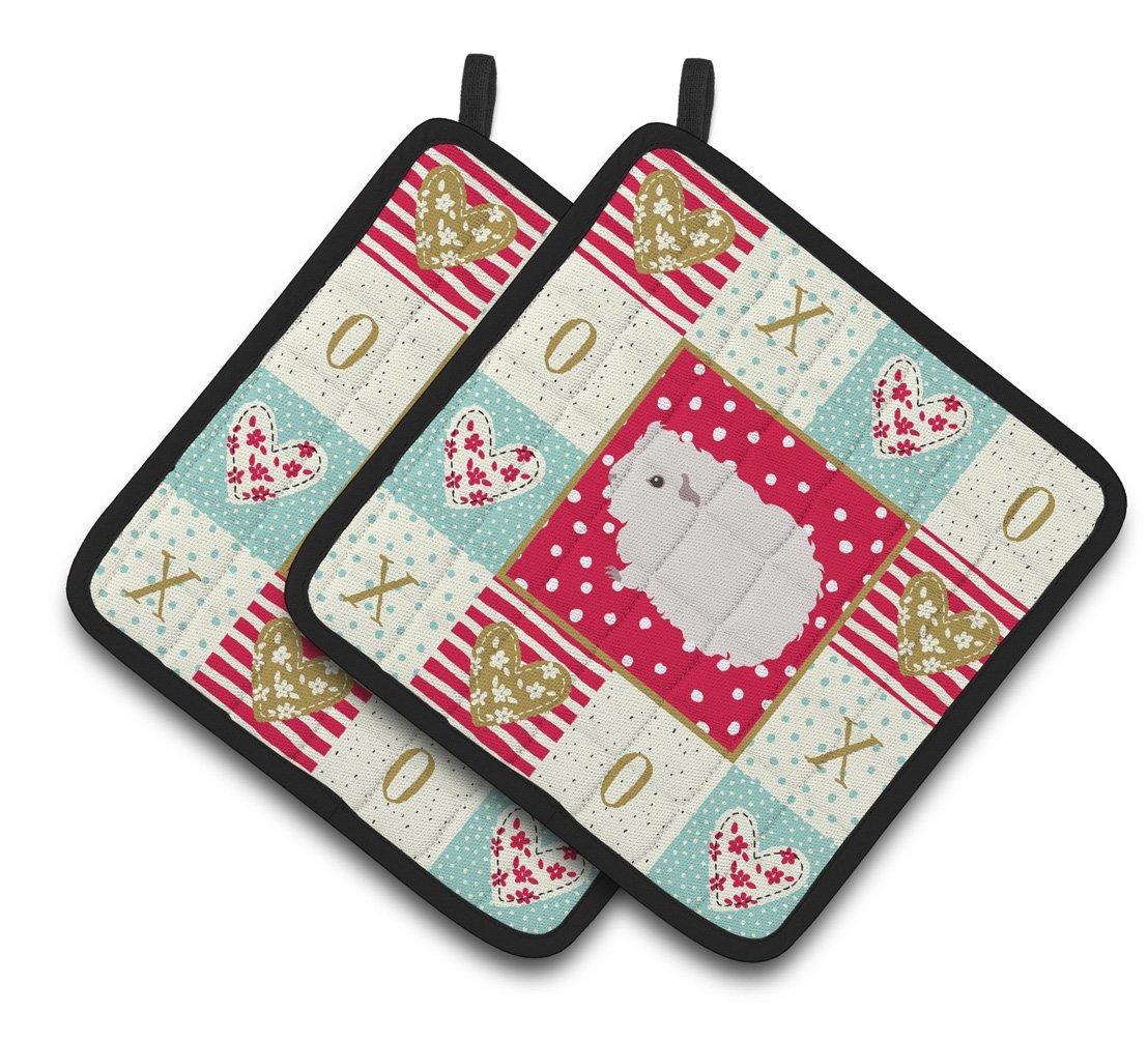 Merino Guinea Pig Love Pair of Pot Holders CK5430PTHD by Caroline's Treasures