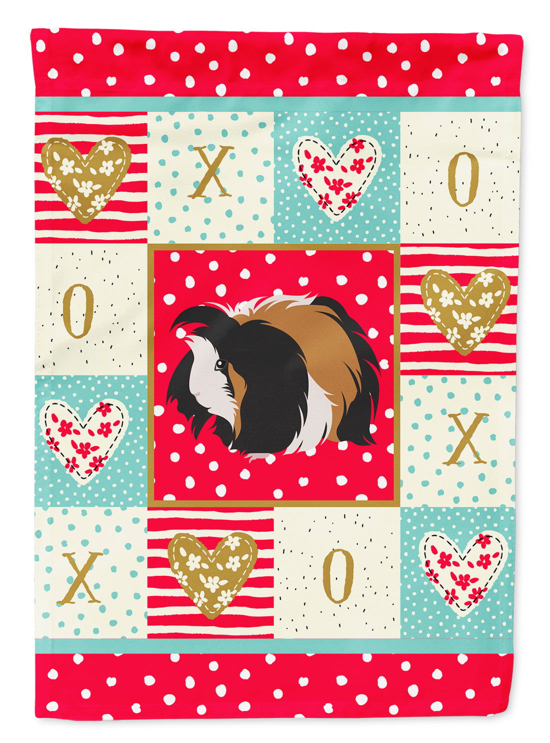 Sheba Guinea Pig Love Flag Canvas House Size CK5433CHF by Caroline's Treasures