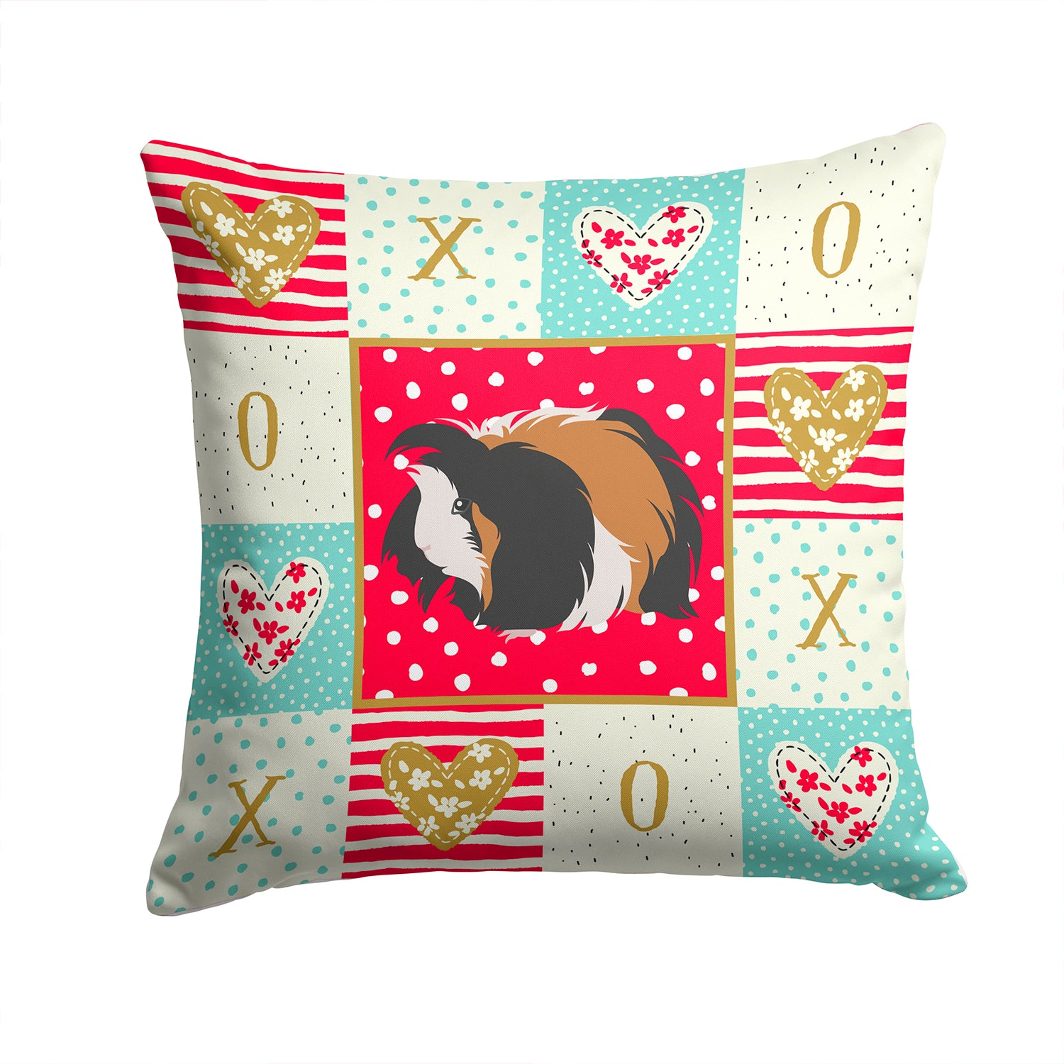 Sheba Guinea Pig Love Fabric Decorative Pillow CK5433PW1414 by Caroline's Treasures
