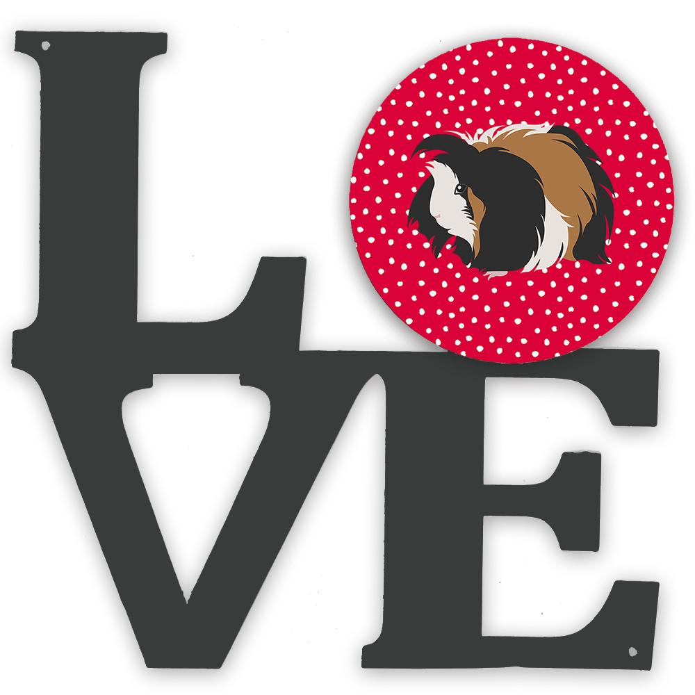 Sheba Guinea Pig Love Metal Wall Artwork LOVE CK5433WALV by Caroline's Treasures