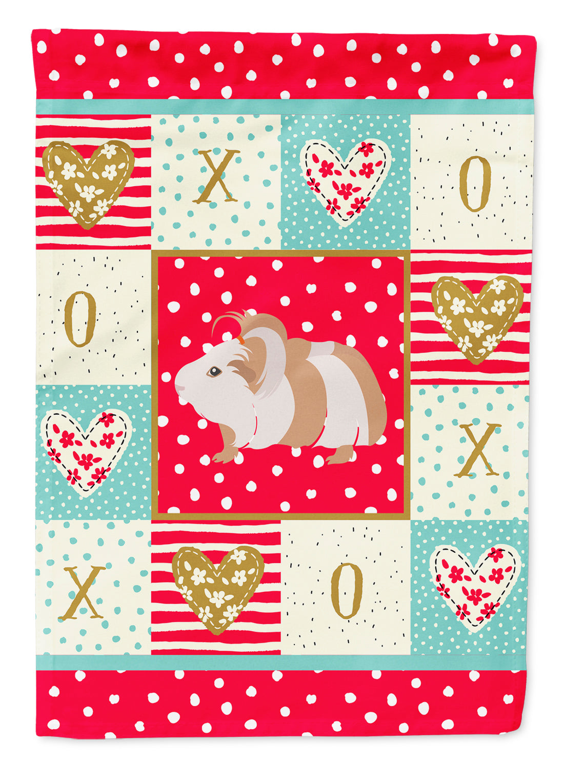 Silkie Guinea Pig Love Flag Canvas House Size CK5434CHF by Caroline's Treasures