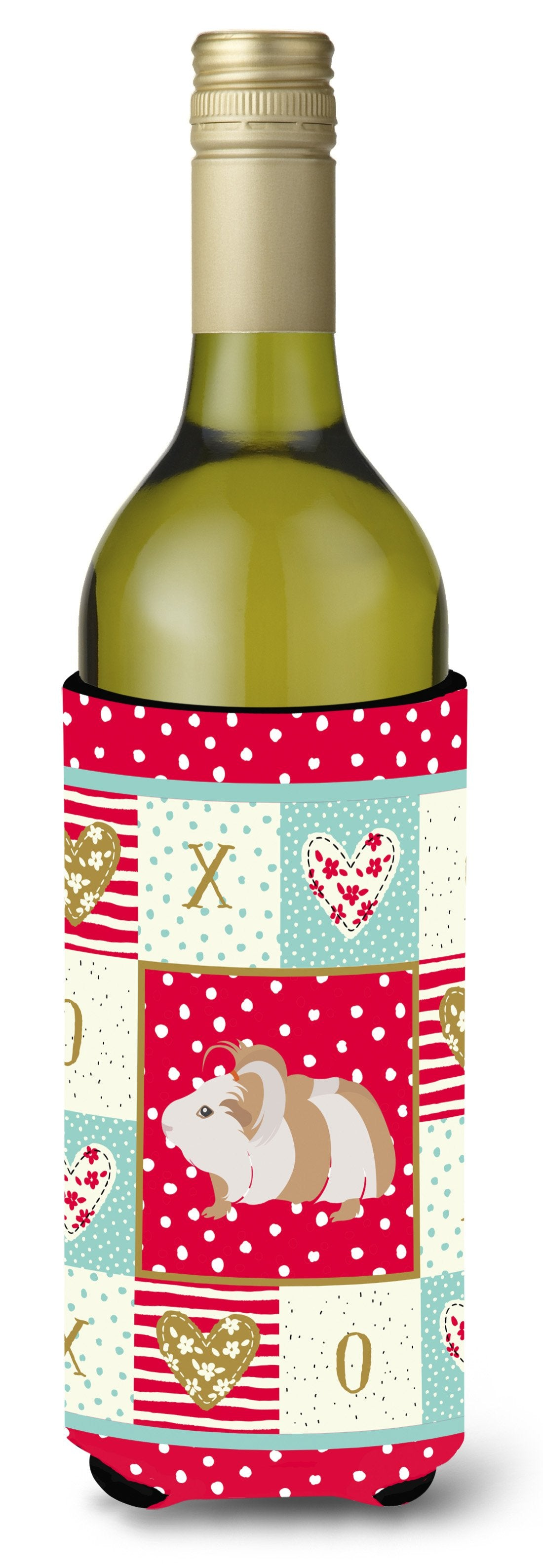 Silkie Guinea Pig Love Wine Bottle Hugger CK5434LITERK by Caroline's Treasures