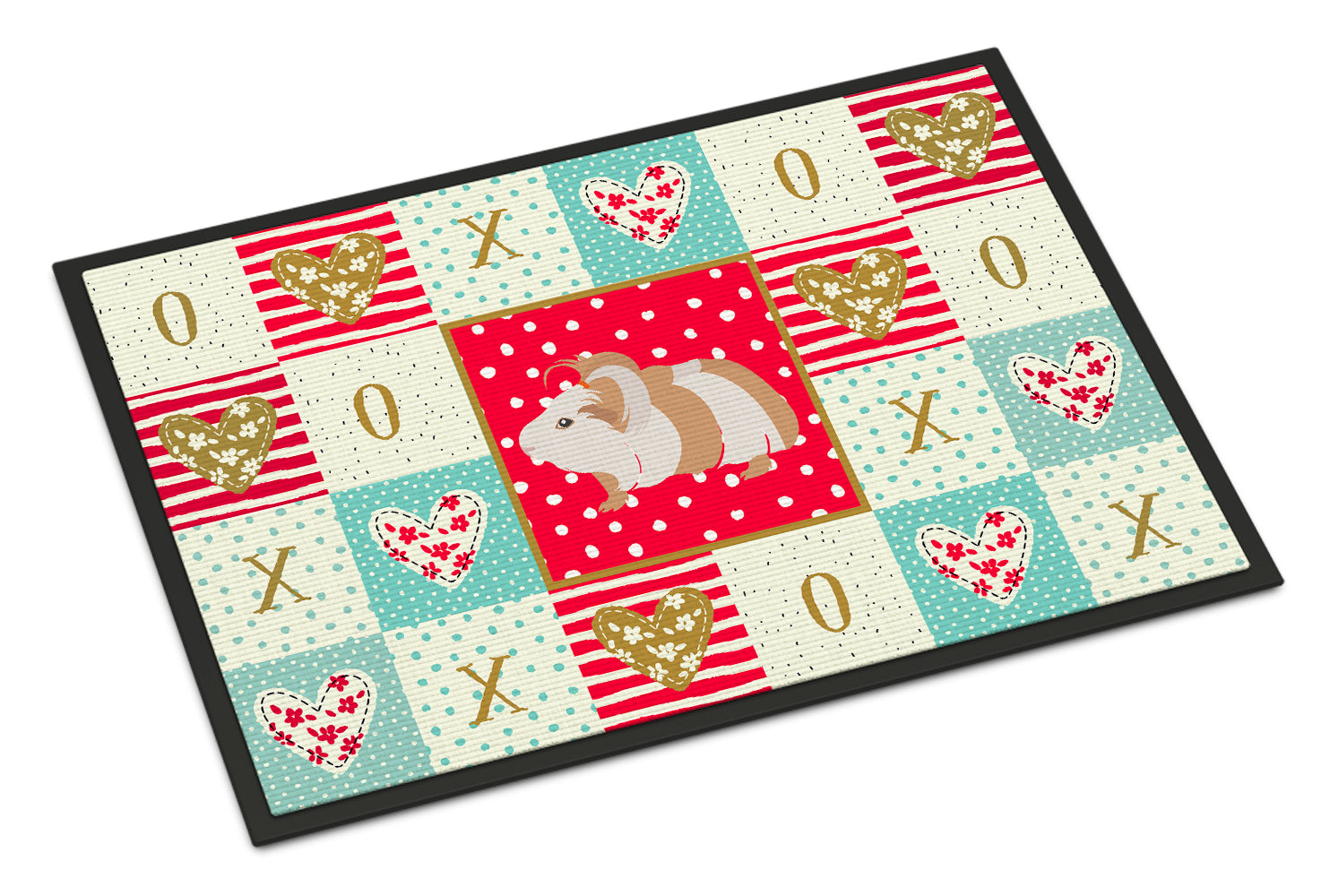 Silkie Guinea Pig Love Indoor or Outdoor Mat 18x27 CK5434MAT by Caroline's Treasures