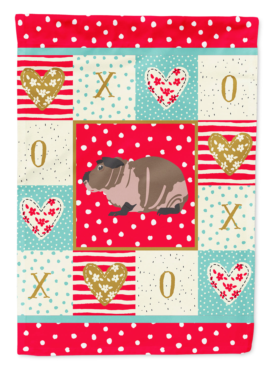 Skinny Guinea Pig Love Flag Canvas House Size CK5435CHF by Caroline's Treasures