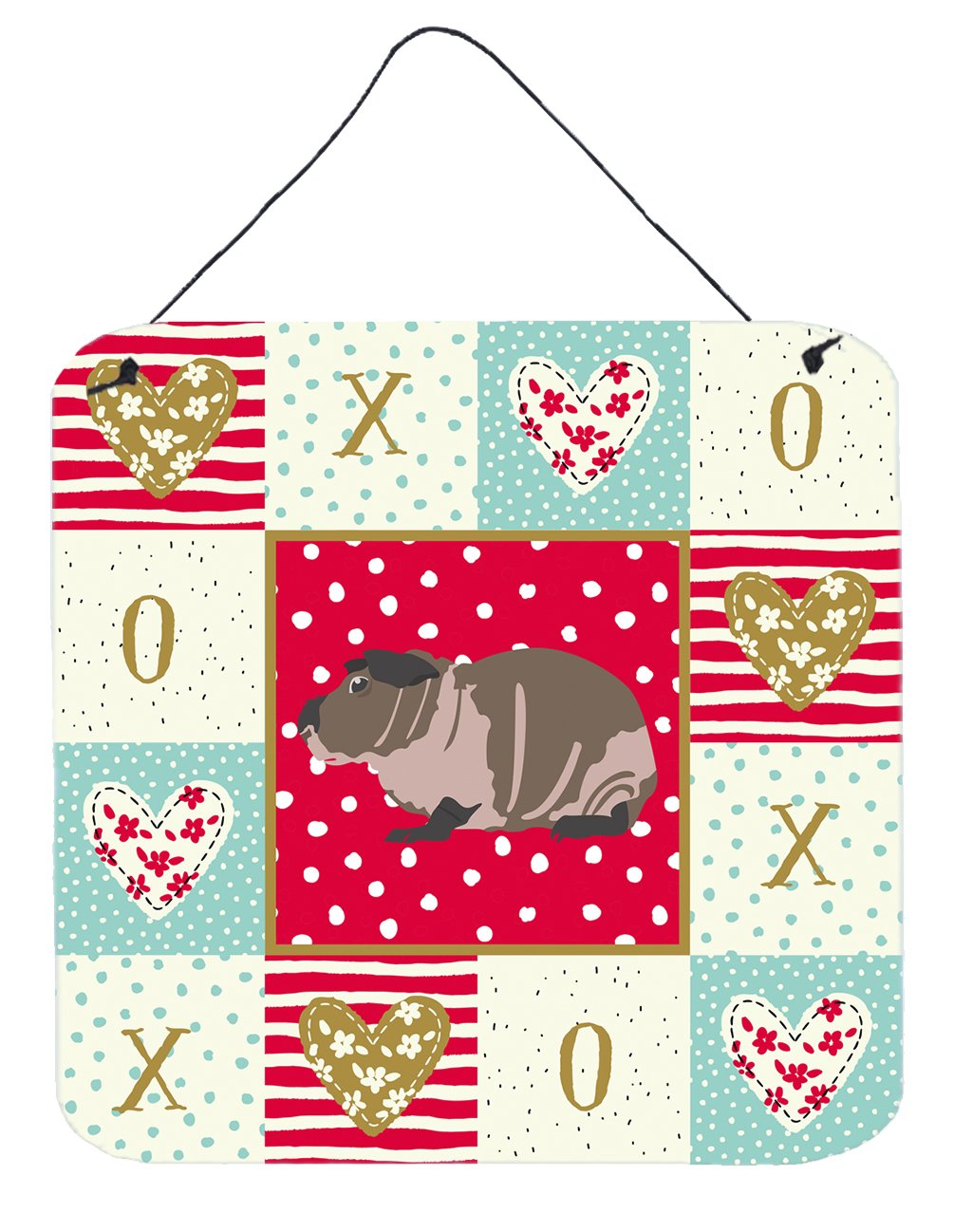 Skinny Guinea Pig Love Wall or Door Hanging Prints CK5435DS66 by Caroline's Treasures