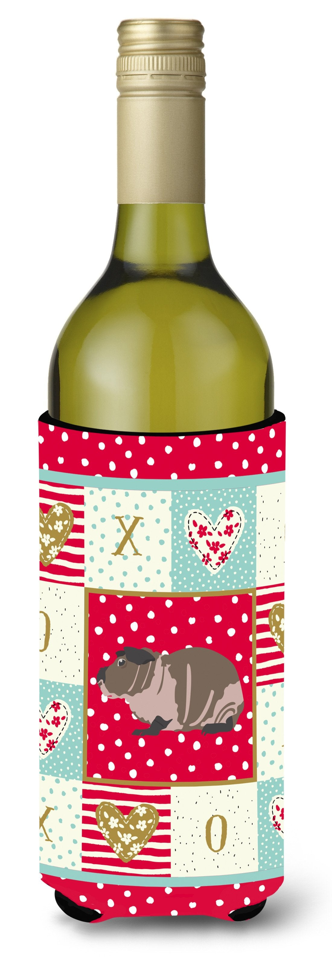 Skinny Guinea Pig Love Wine Bottle Hugger CK5435LITERK by Caroline's Treasures