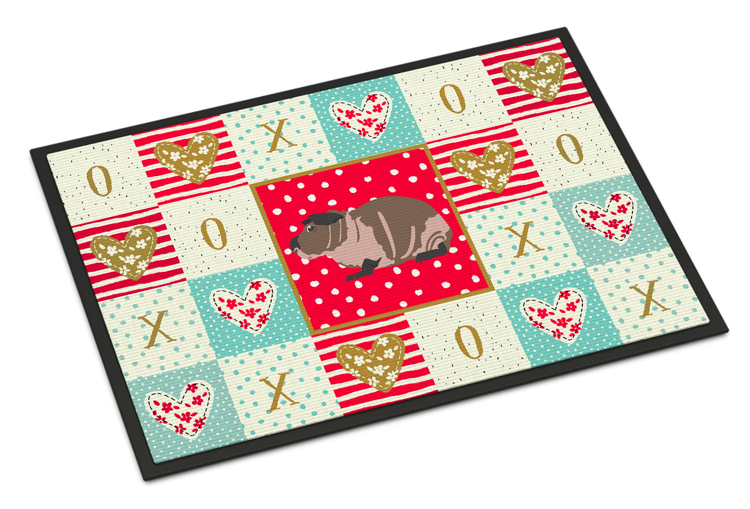 Skinny Guinea Pig Love Indoor or Outdoor Mat 18x27 CK5435MAT by Caroline's Treasures