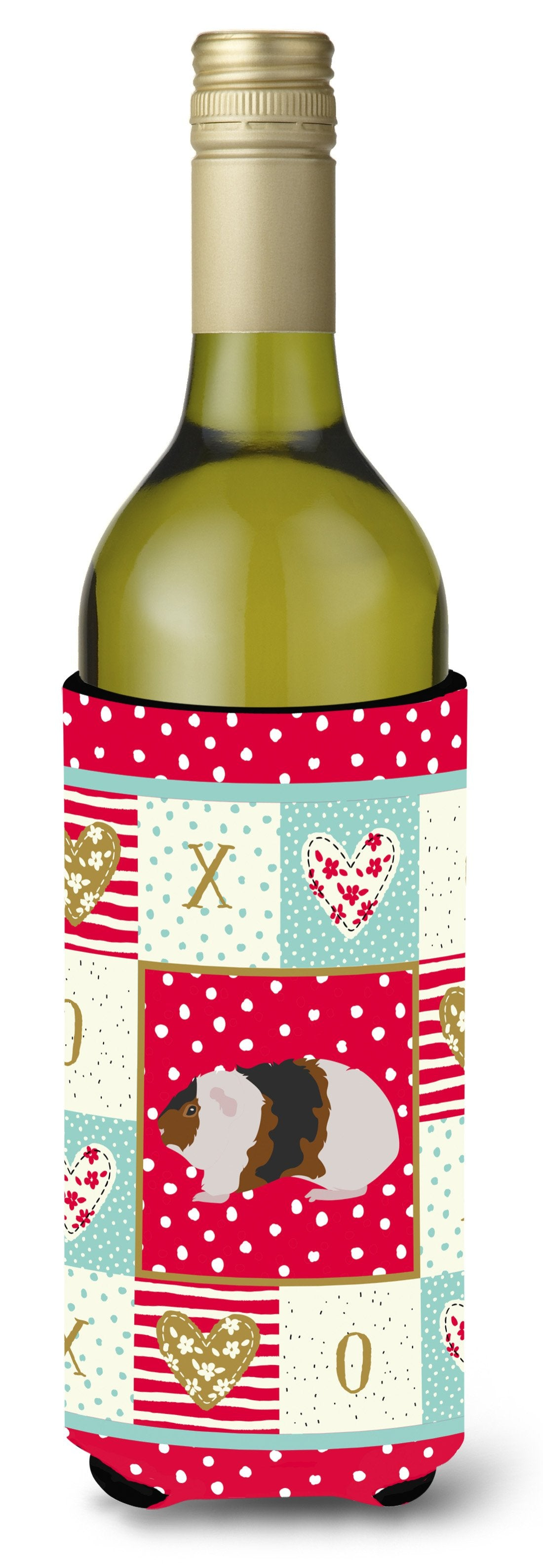 Teddy Guinea Pig Love Wine Bottle Hugger CK5436LITERK by Caroline's Treasures