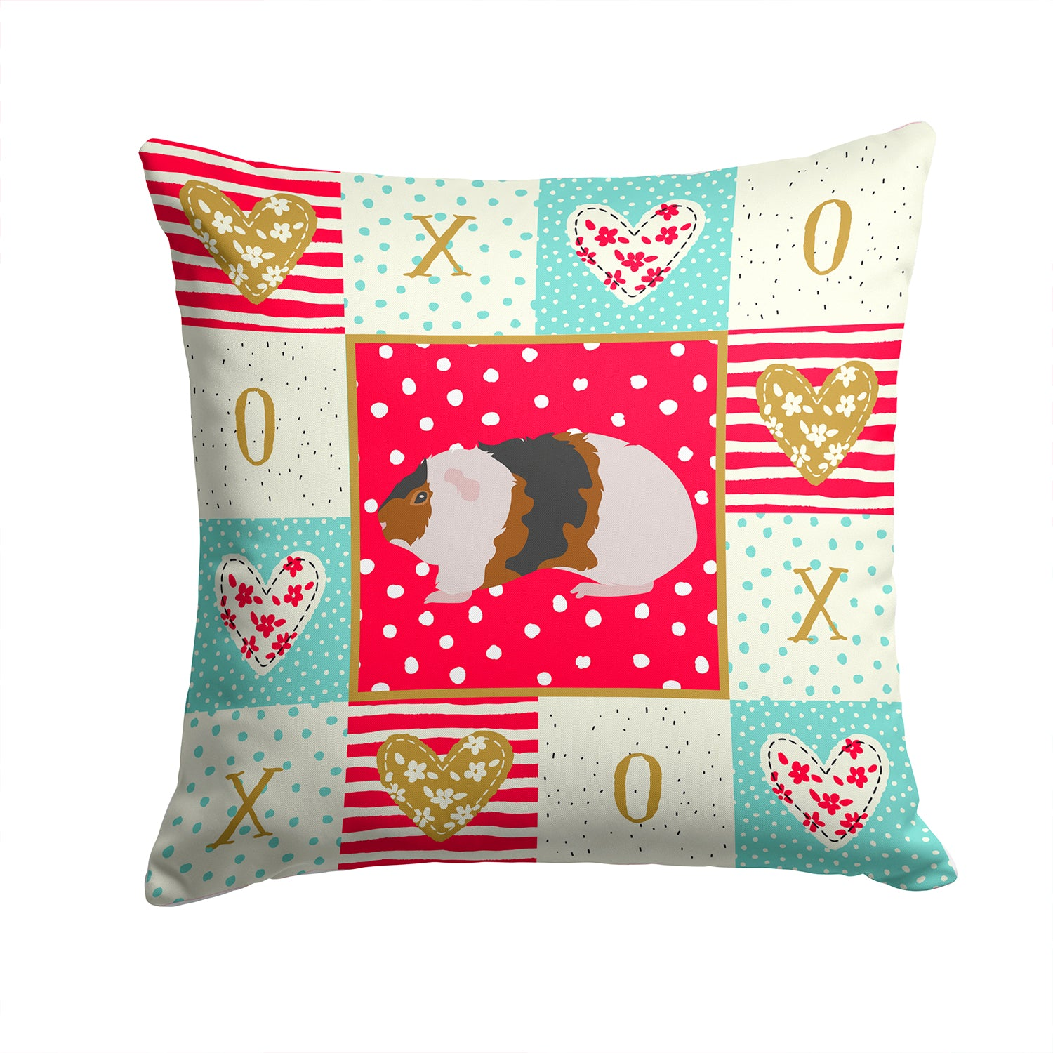 Buy this Teddy Guinea Pig Love Fabric Decorative Pillow CK5436PW1414