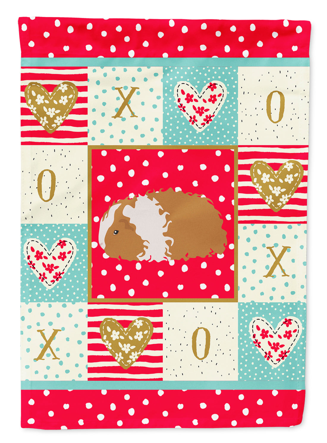 Texel Guinea Pig Love Flag Canvas House Size CK5437CHF by Caroline's Treasures