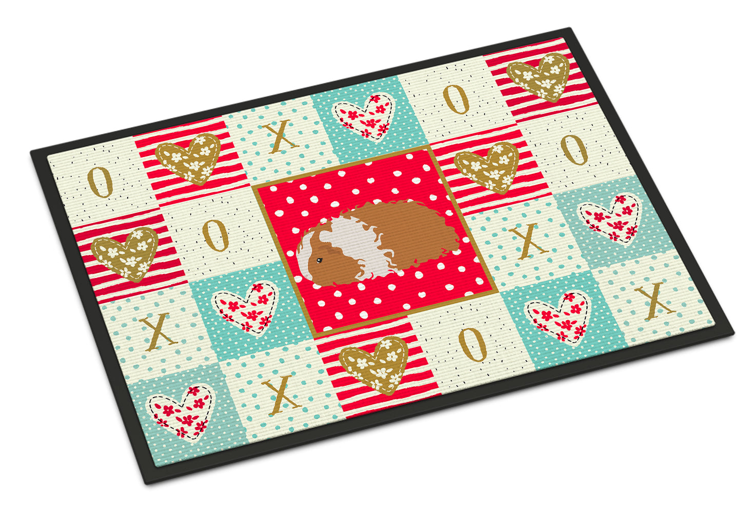 Texel Guinea Pig Love Indoor or Outdoor Mat 18x27 CK5437MAT by Caroline's Treasures