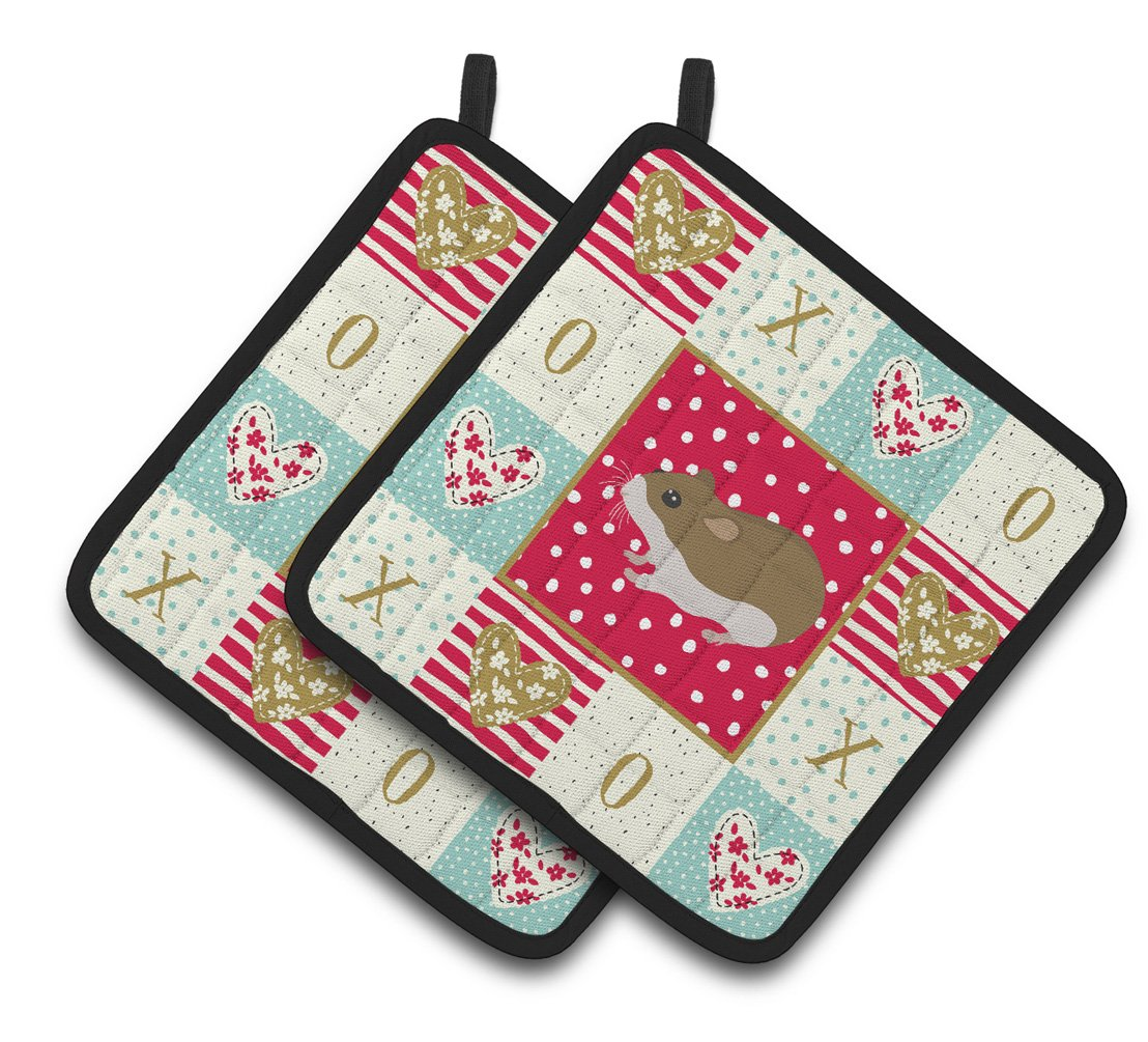 Buy this Chinese Hamster Love Pair of Pot Holders CK5438PTHD