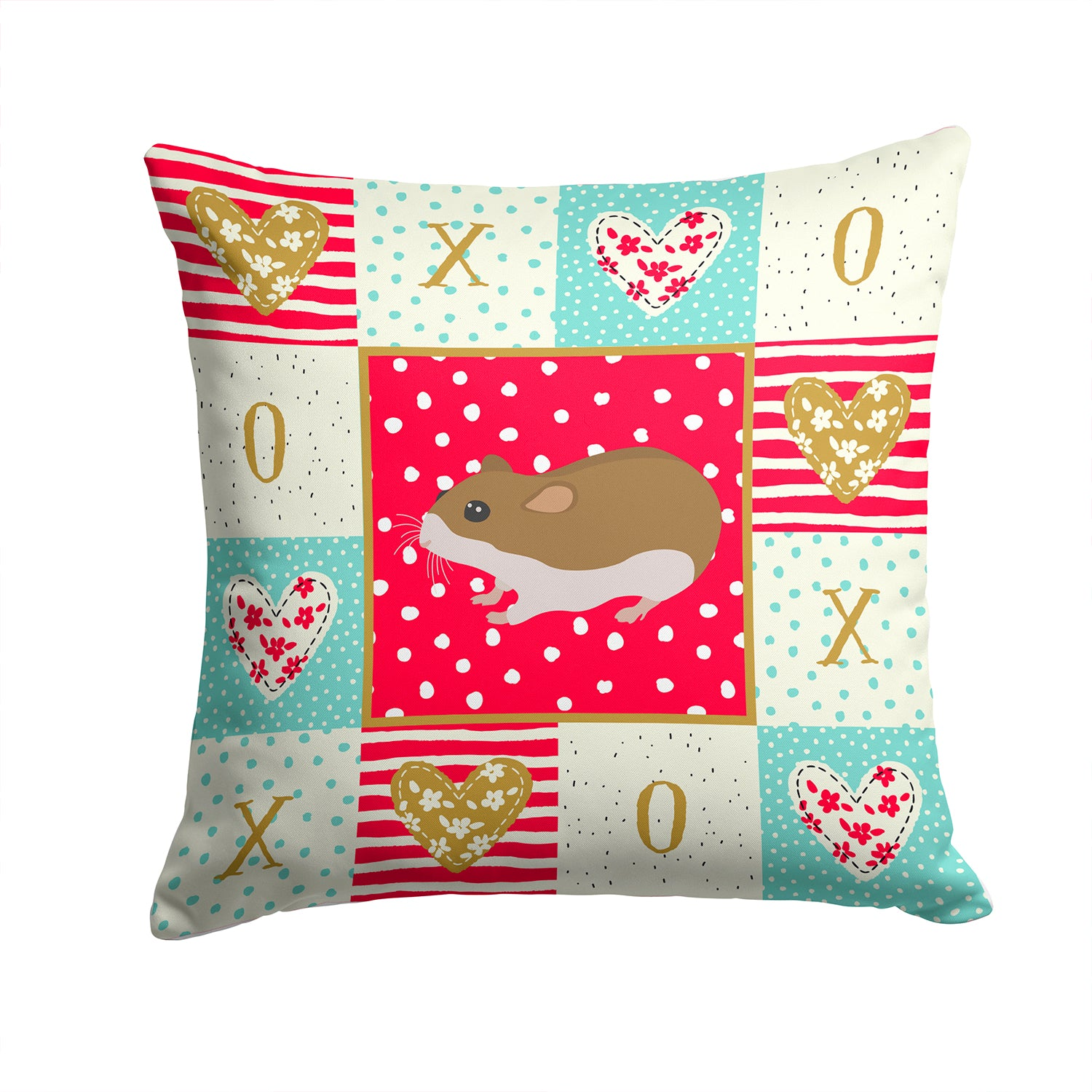Buy this Chinese Hamster Love Fabric Decorative Pillow CK5438PW1414
