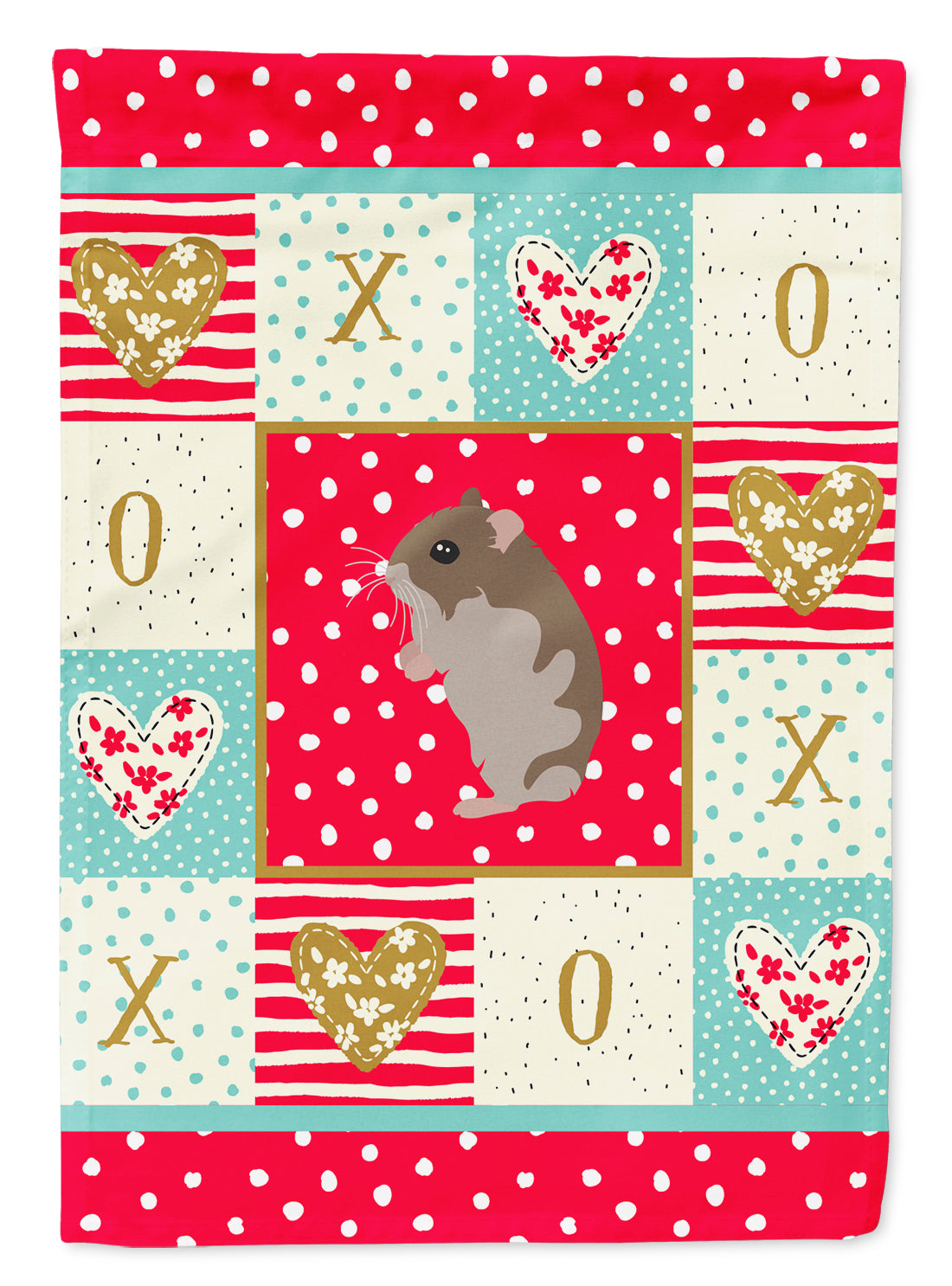 Dwarf Hamster Love Flag Canvas House Size CK5439CHF by Caroline's Treasures