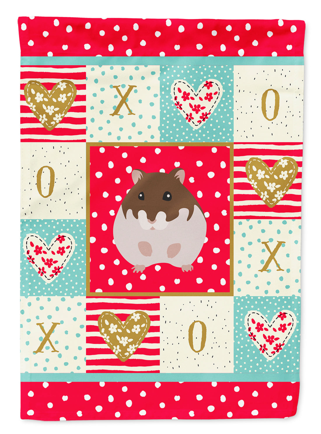Dzungarian Hamster Love Flag Canvas House Size CK5440CHF by Caroline's Treasures