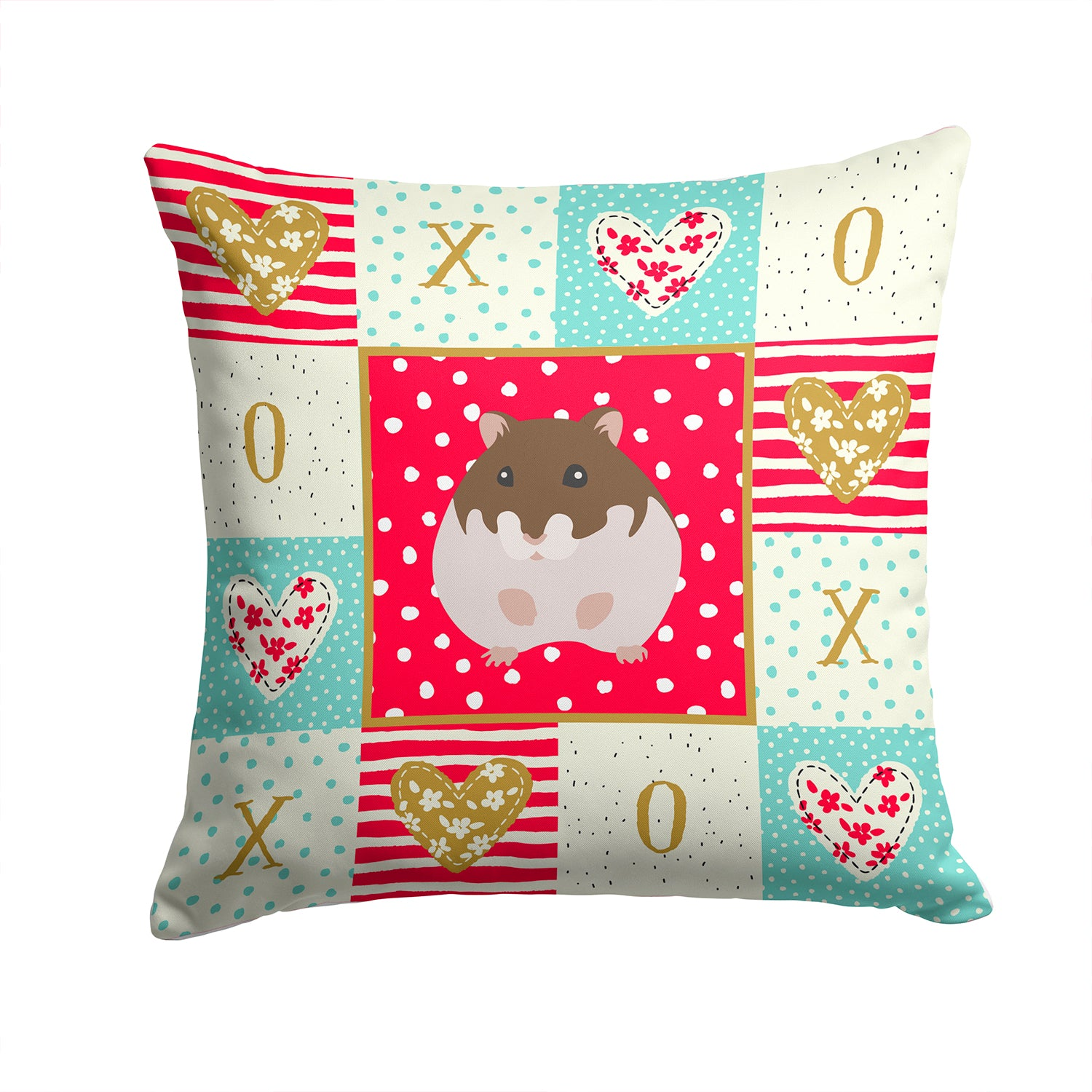 Buy this Dzungarian Hamster Love Fabric Decorative Pillow CK5440PW1414