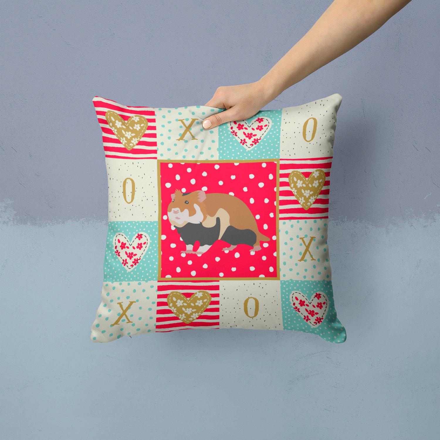 Buy this European Hamster Love Fabric Decorative Pillow CK5441PW1414