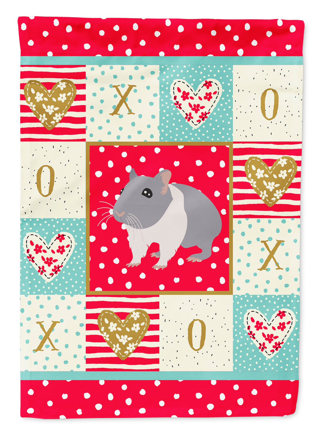 South African Hamster Love Flag Canvas House Size CK5442CHF by Caroline's Treasures