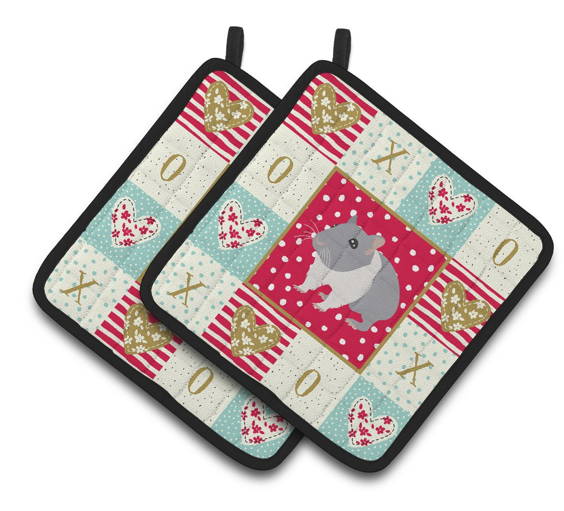 Buy this South African Hamster Love Pair of Pot Holders CK5442PTHD