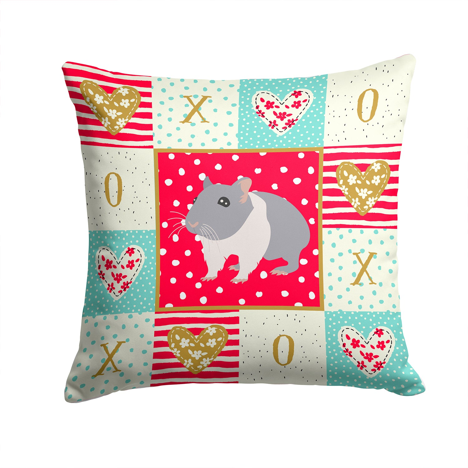Buy this South African Hamster Love Fabric Decorative Pillow CK5442PW1414