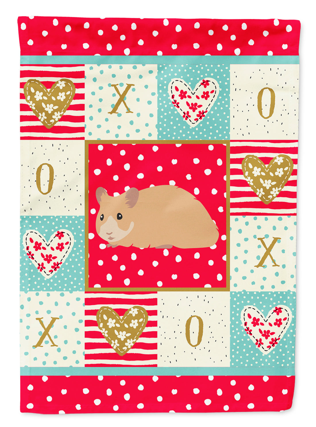 Syrian Golden Hamster Love Flag Canvas House Size CK5443CHF by Caroline's Treasures