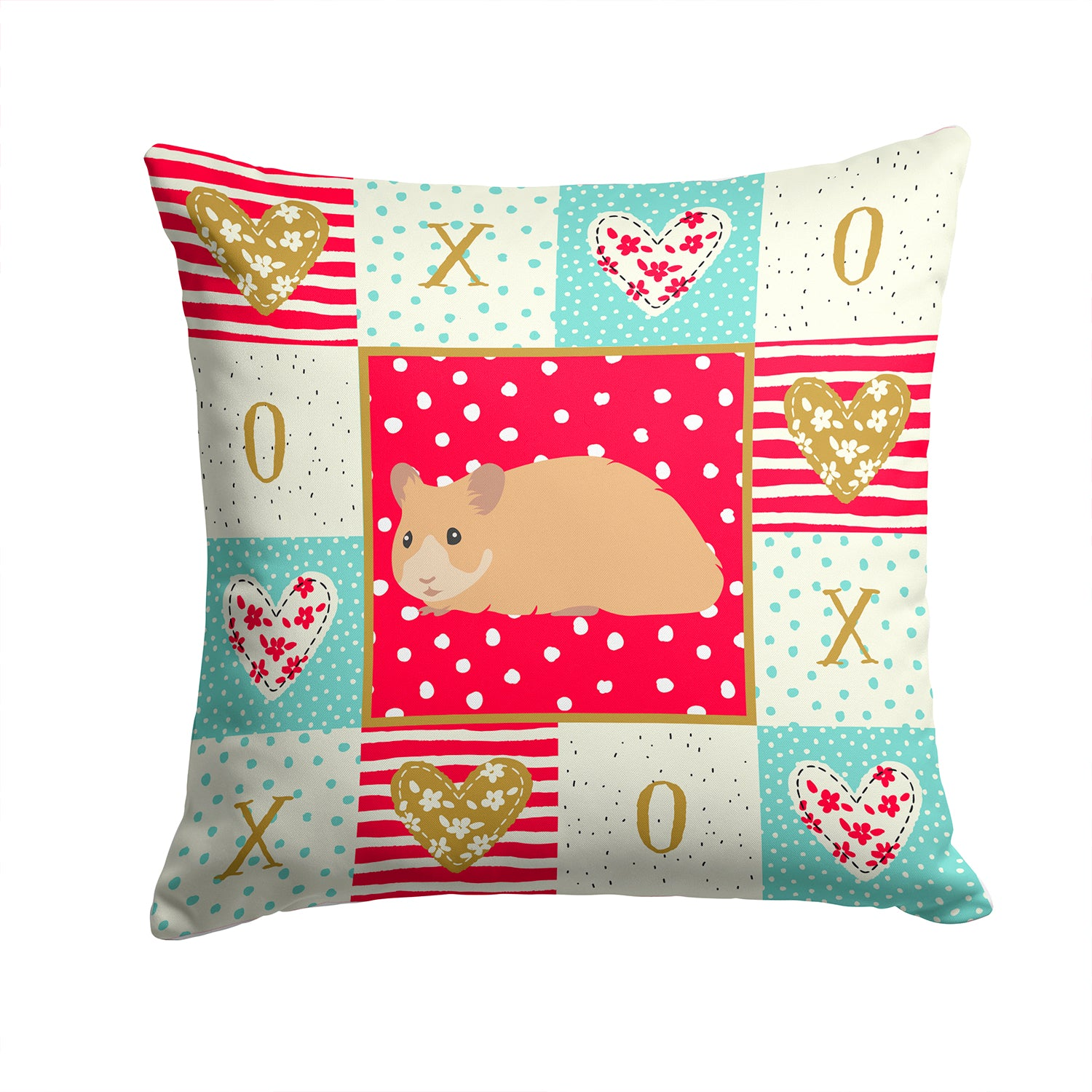 Buy this Syrian Golden Hamster Love Fabric Decorative Pillow CK5443PW1414