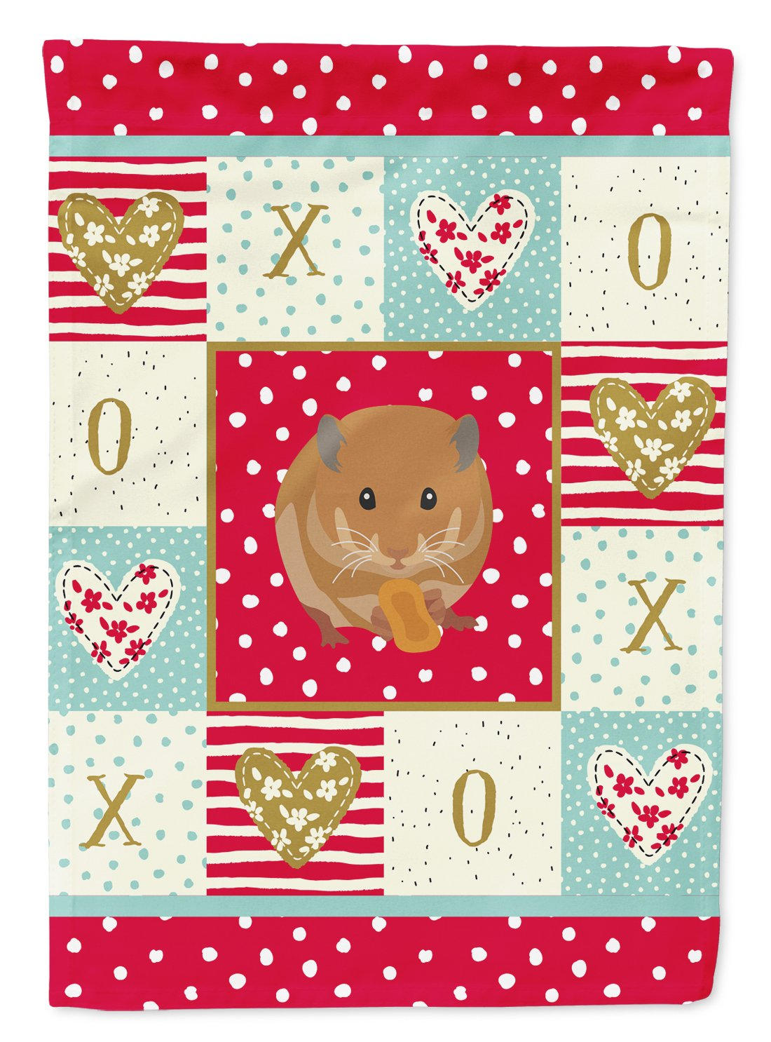 Teddy Bear Hamster Love Flag Garden Size CK5444GF by Caroline's Treasures