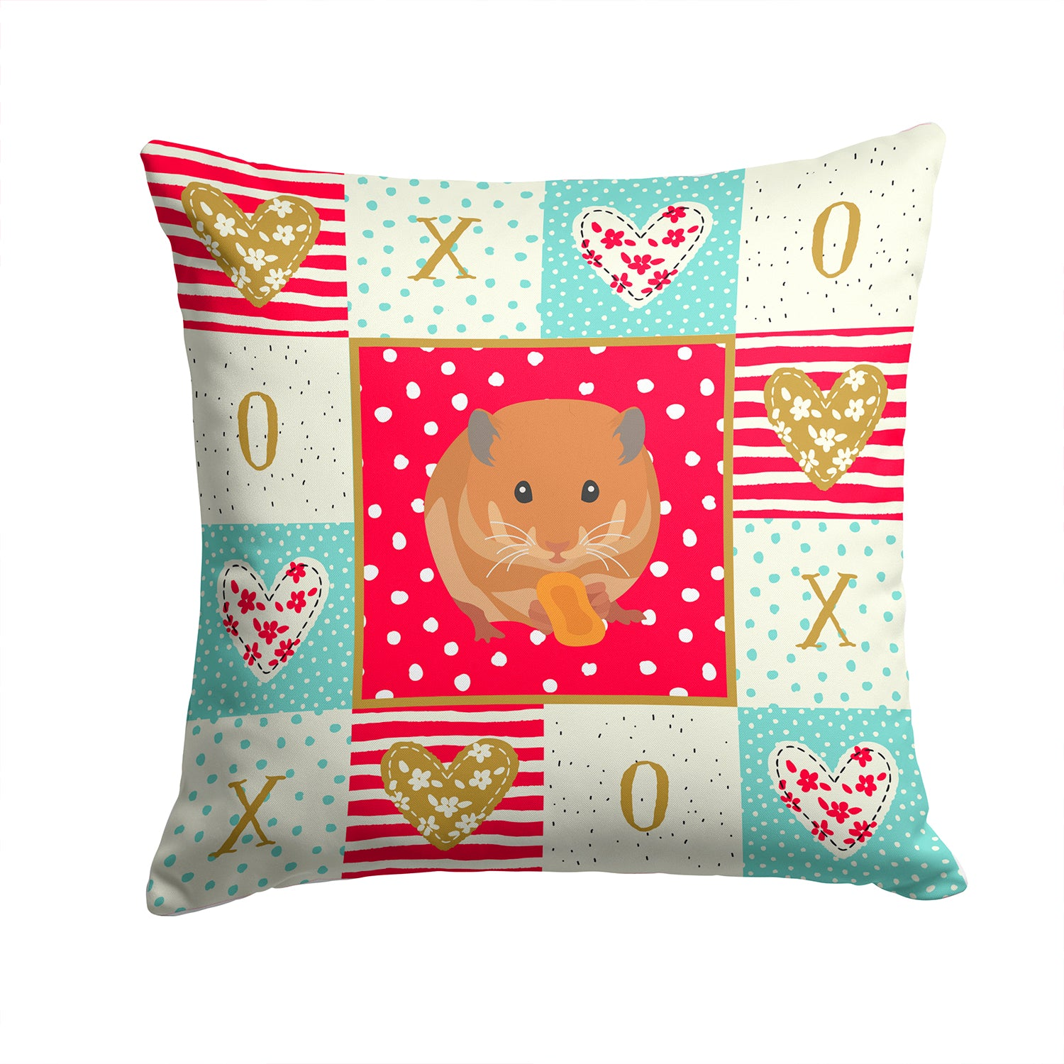 Buy this Teddy Bear Hamster Love Fabric Decorative Pillow CK5444PW1414