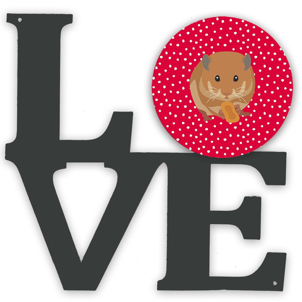 Teddy Bear Hamster Love Metal Wall Artwork LOVE CK5444WALV by Caroline's Treasures
