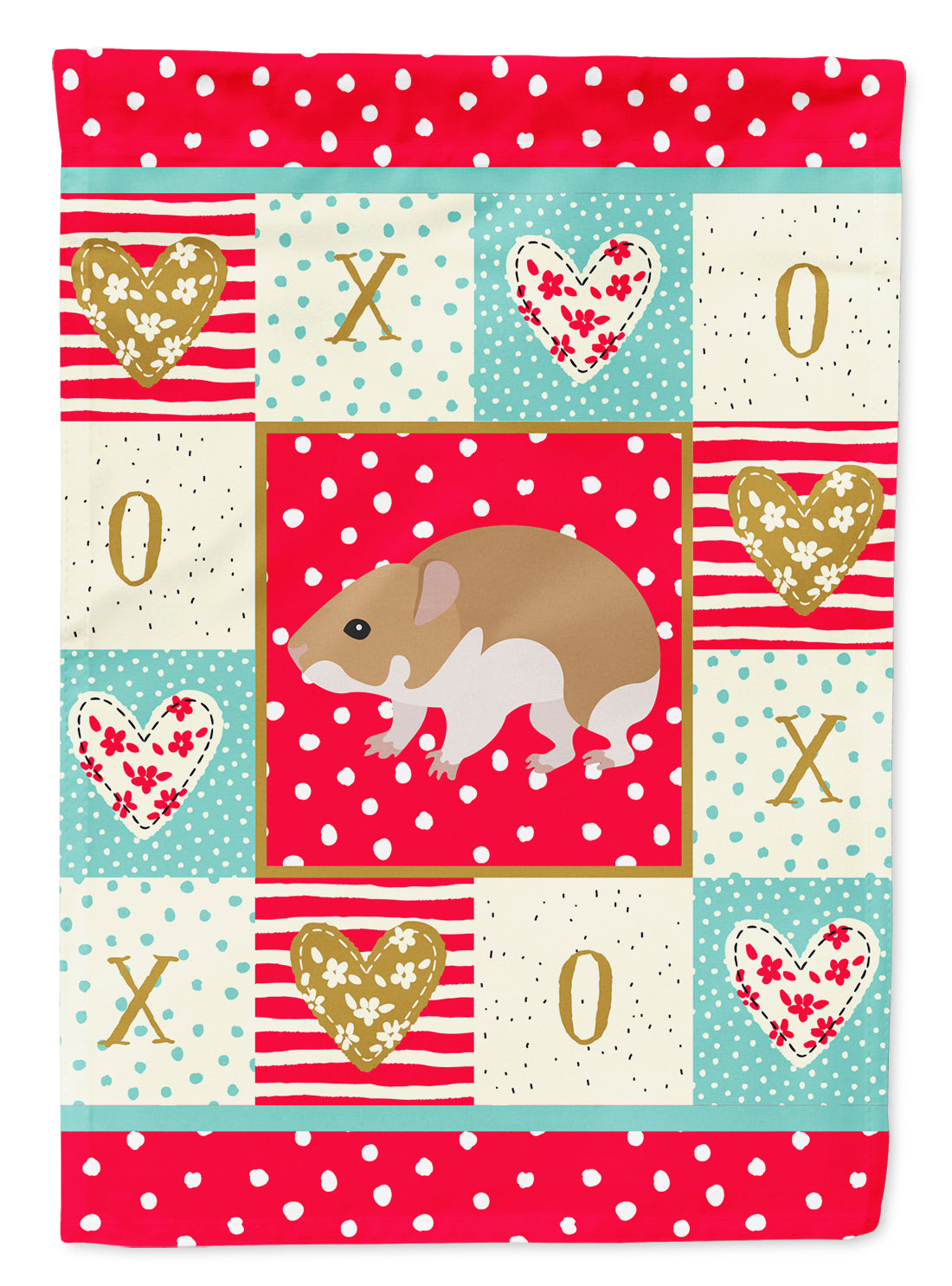 Turkish Hamster Love Flag Canvas House Size CK5445CHF by Caroline's Treasures
