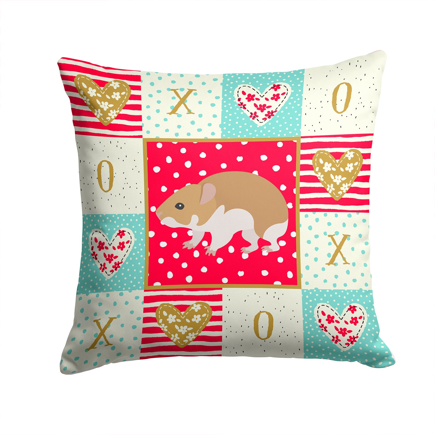 Turkish Hamster Love Fabric Decorative Pillow CK5445PW1414 by Caroline's Treasures