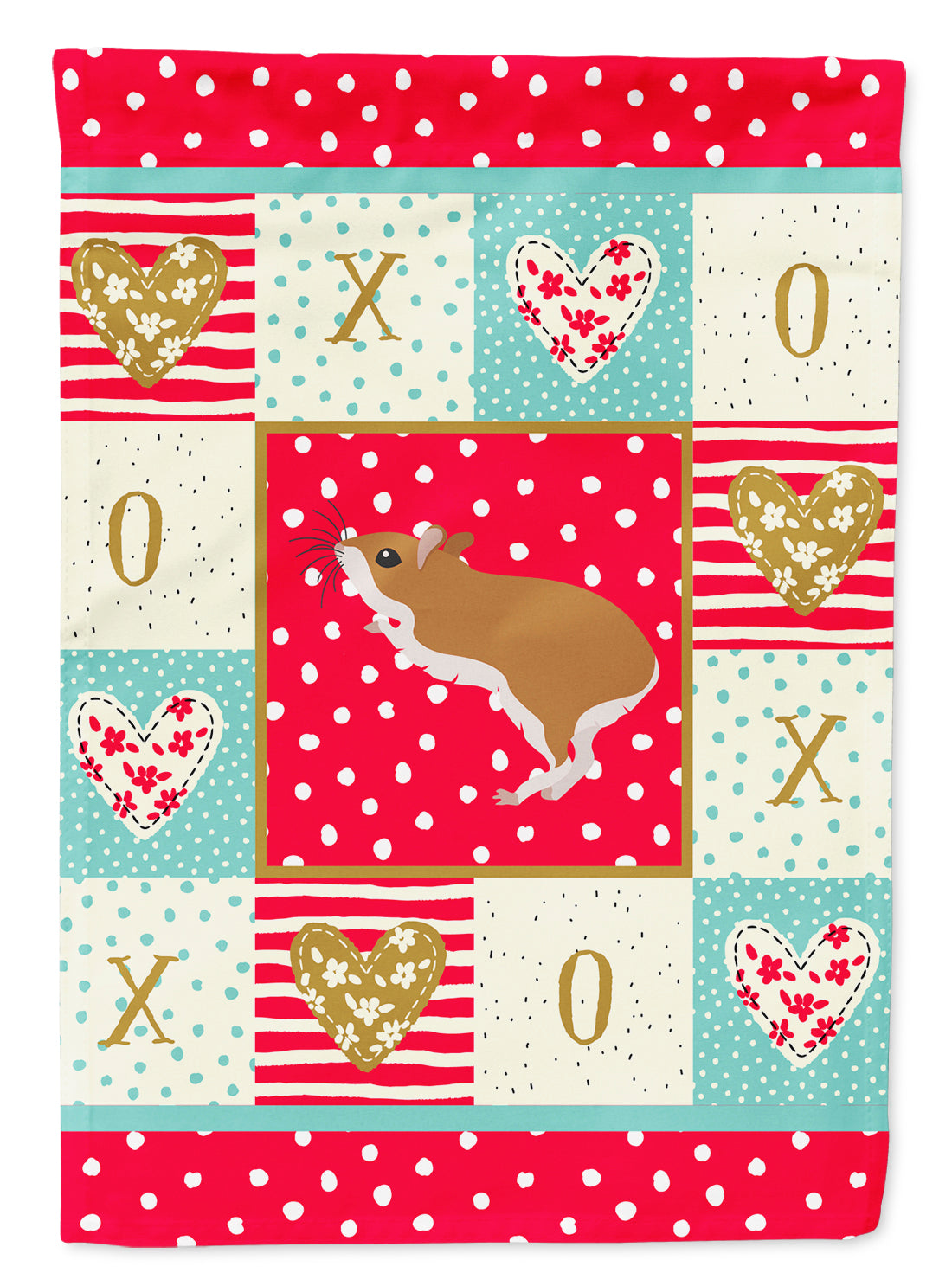 White Legged Hamster Love Flag Canvas House Size CK5446CHF by Caroline's Treasures