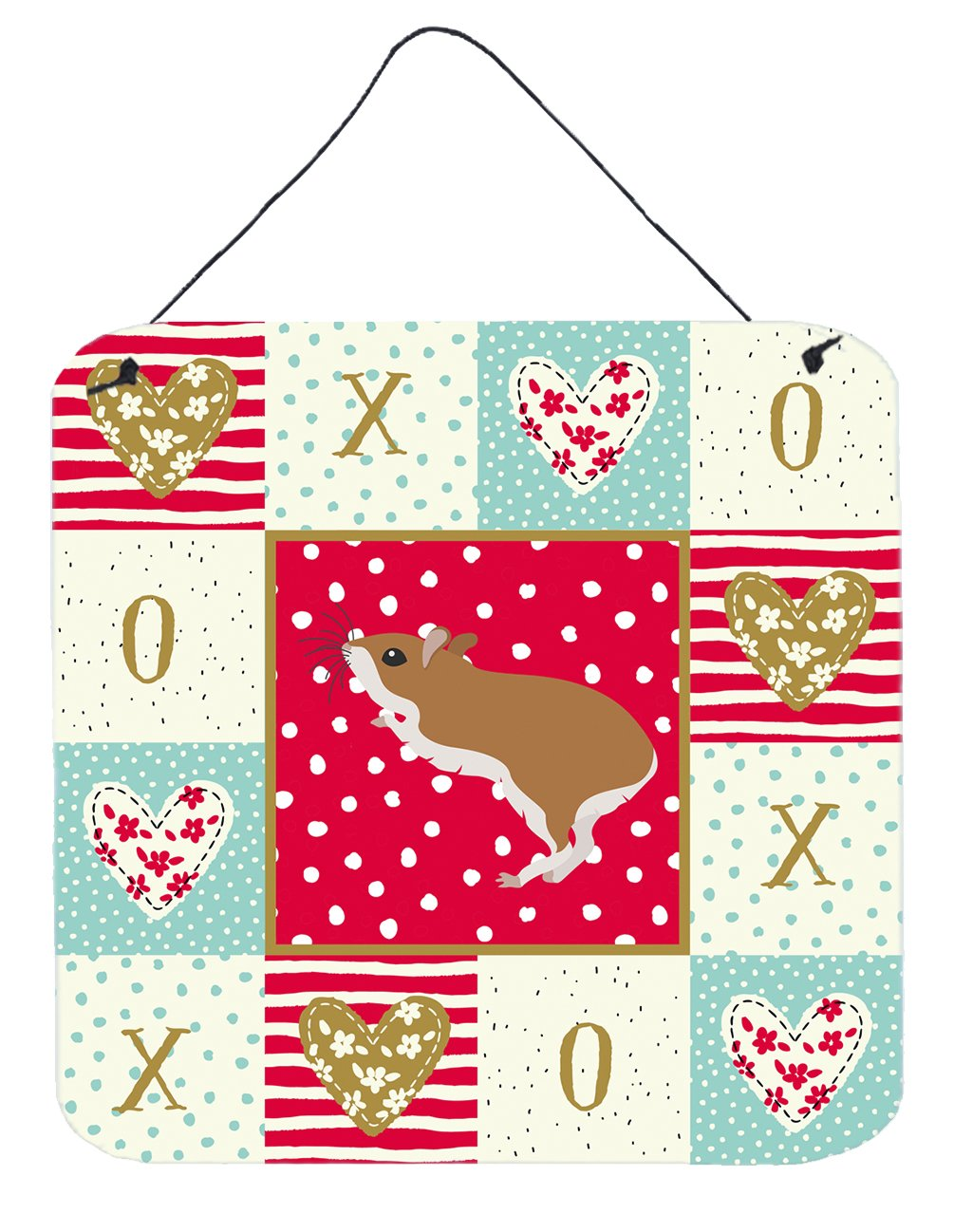 Buy this White Legged Hamster Love Wall or Door Hanging Prints CK5446DS66