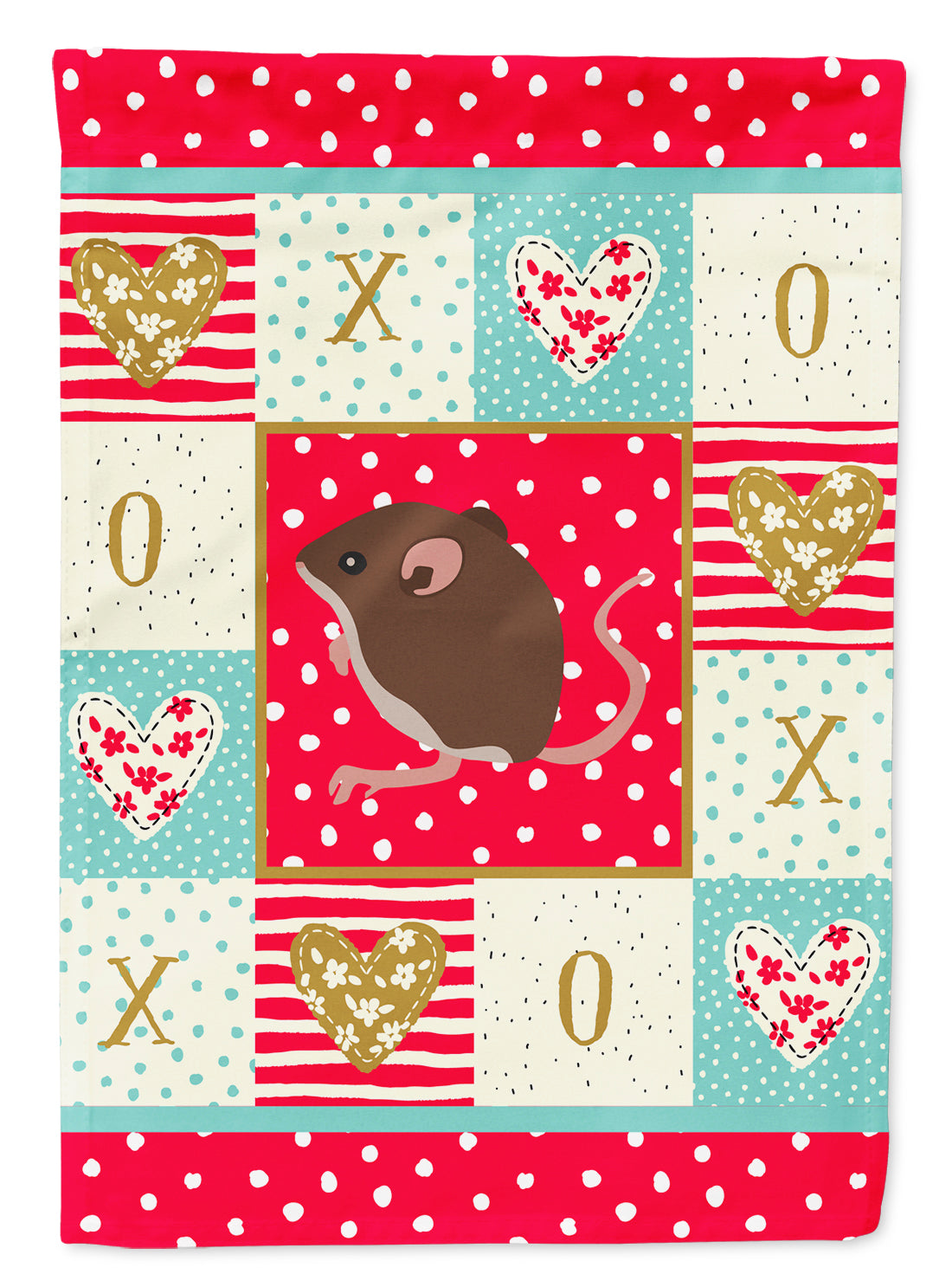 Baby Mouse Love Flag Canvas House Size CK5448CHF by Caroline's Treasures