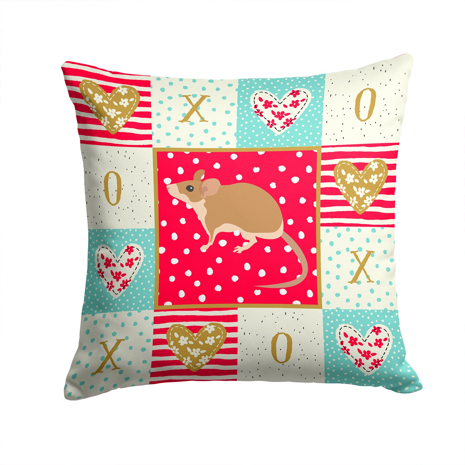 Buy this Spiny Mouse Love Fabric Decorative Pillow CK5453PW1414