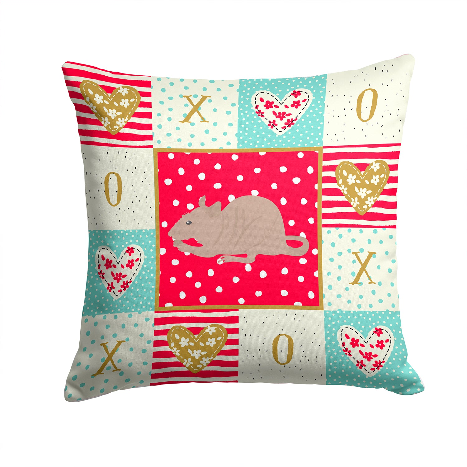Buy this Fuzz Rat Love Fabric Decorative Pillow CK5460PW1414