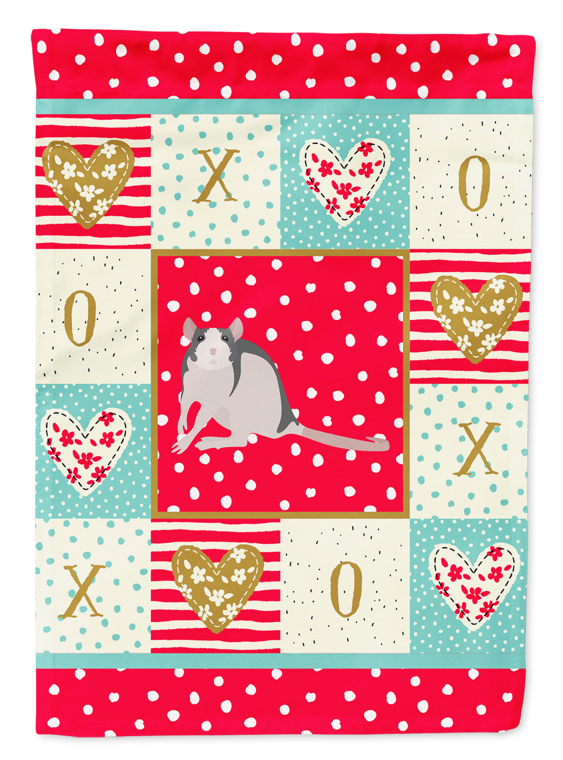 Husky Rat Love Flag Canvas House Size CK5461CHF by Caroline's Treasures