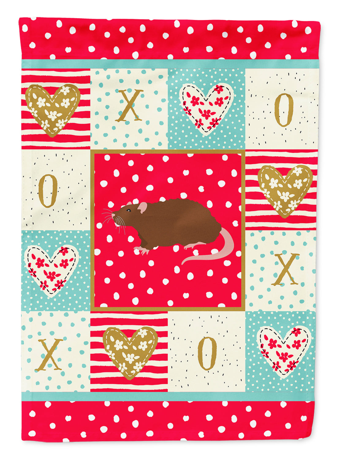 Rex Rat Love Flag Canvas House Size CK5462CHF by Caroline's Treasures