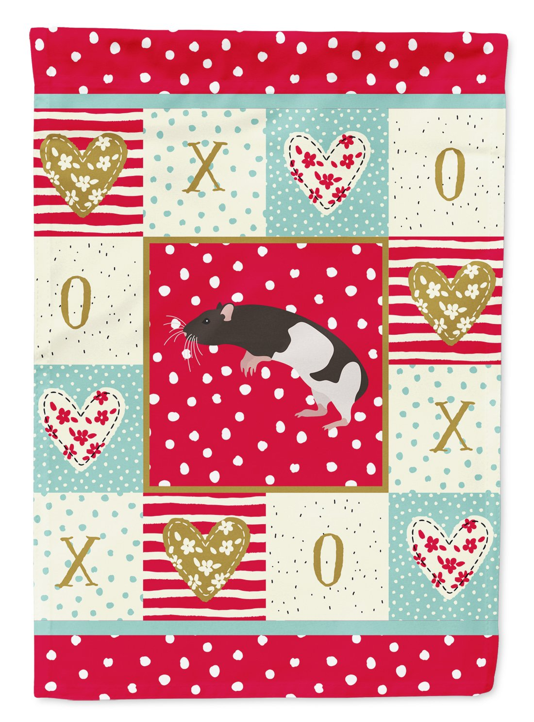 Tailless Rat Love Flag Garden Size CK5464GF by Caroline's Treasures