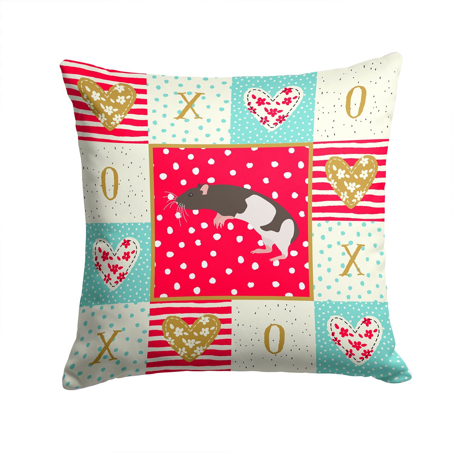 Buy this Tailless Rat Love Fabric Decorative Pillow CK5464PW1414