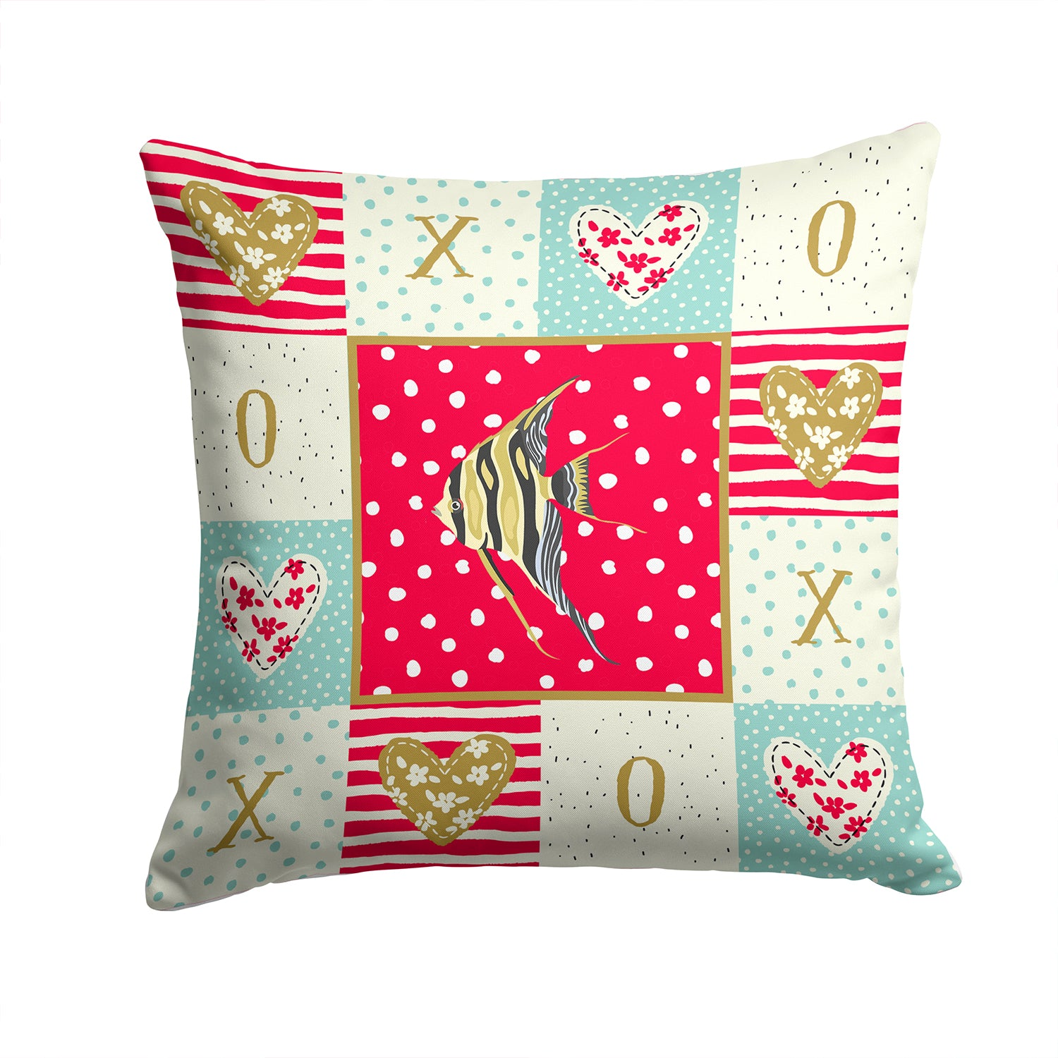 Buy this Angelfish Love Fabric Decorative Pillow CK5465PW1414