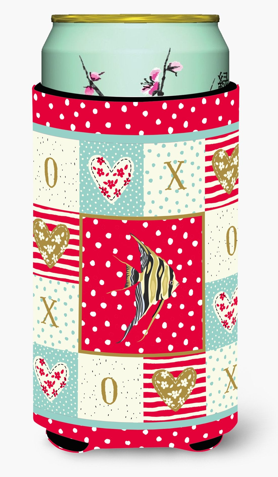 Angelfish Love Tall Boy Beverage Insulator Hugger CK5465TBC by Caroline's Treasures