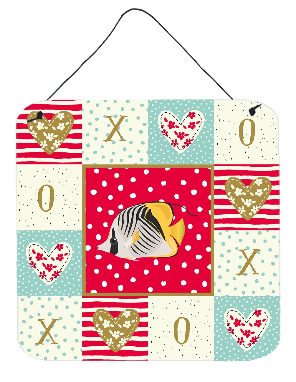 Butterfly Fish Love Wall or Door Hanging Prints CK5466DS66 by Caroline's Treasures